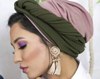 Multiway crepe turban crepe head wrap