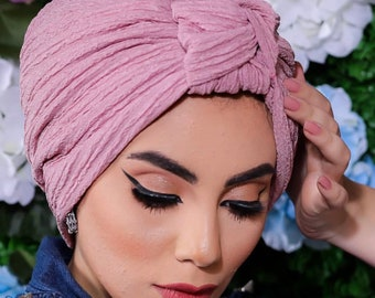 Artichokes Design braided Lycra Fabric Women Turban Hat