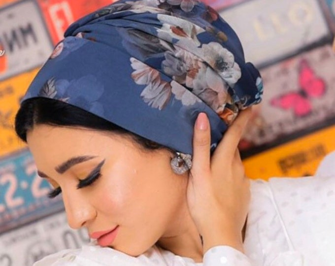 Featured listing image: Floral Italian Tulle women turban