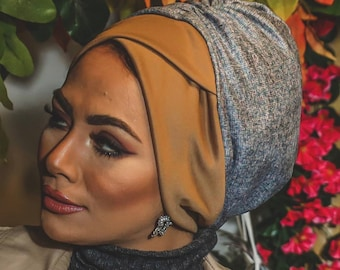 Crisscrossed Soft Chamois Women Turban Headband Chemohat Head Wrap