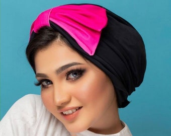 Water Resistant Spandex Bow Swimming workout Turban