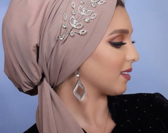 Multiway  Tulle turban with tiara accessorie