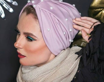Beaded jersey women turban