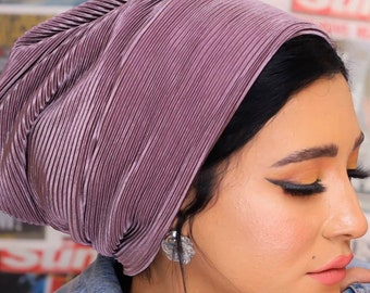 Pleated soft everyday turban headband