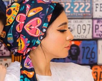 Multi-way Crepe Lycra Multicolored Women Turban
