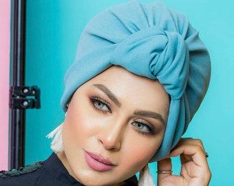Crown Design Turkish Crepe Women Turban Headband