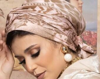 Jersey Patterned women turban headband turban hijab tichel cancer turban