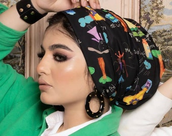 Drapes Multicolored Black Women Turban Headband