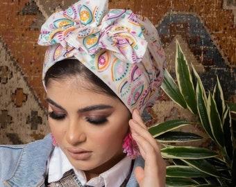 Butterfly Design Soft Crepe Summer Spring Women Turban Headband