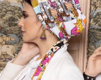 Multi-way Multicolored Soft Crepe Women Turban Headband