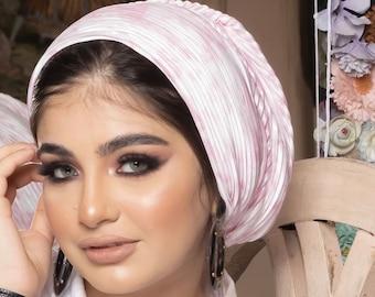 Pleated Tie Dye Women turban everyday ready to wear turban