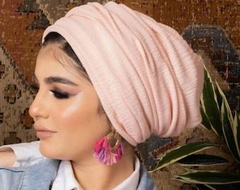 Two in one women turban headband turban hijab chemo hat