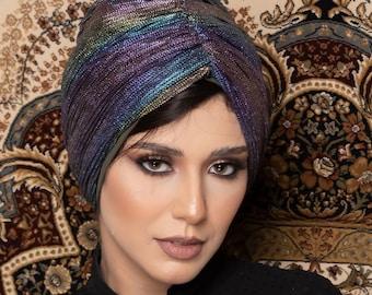 Multicolored Drapes Women Turban Summer Spring Women Turban Headband