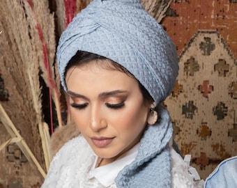 Patterned Jacquard Multi-way Women Turban Headband Turban Hijab Turban for hairloss