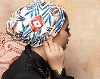 Soft Lycra Drapes Design Ready To Wear Women Turban Everyday Turban