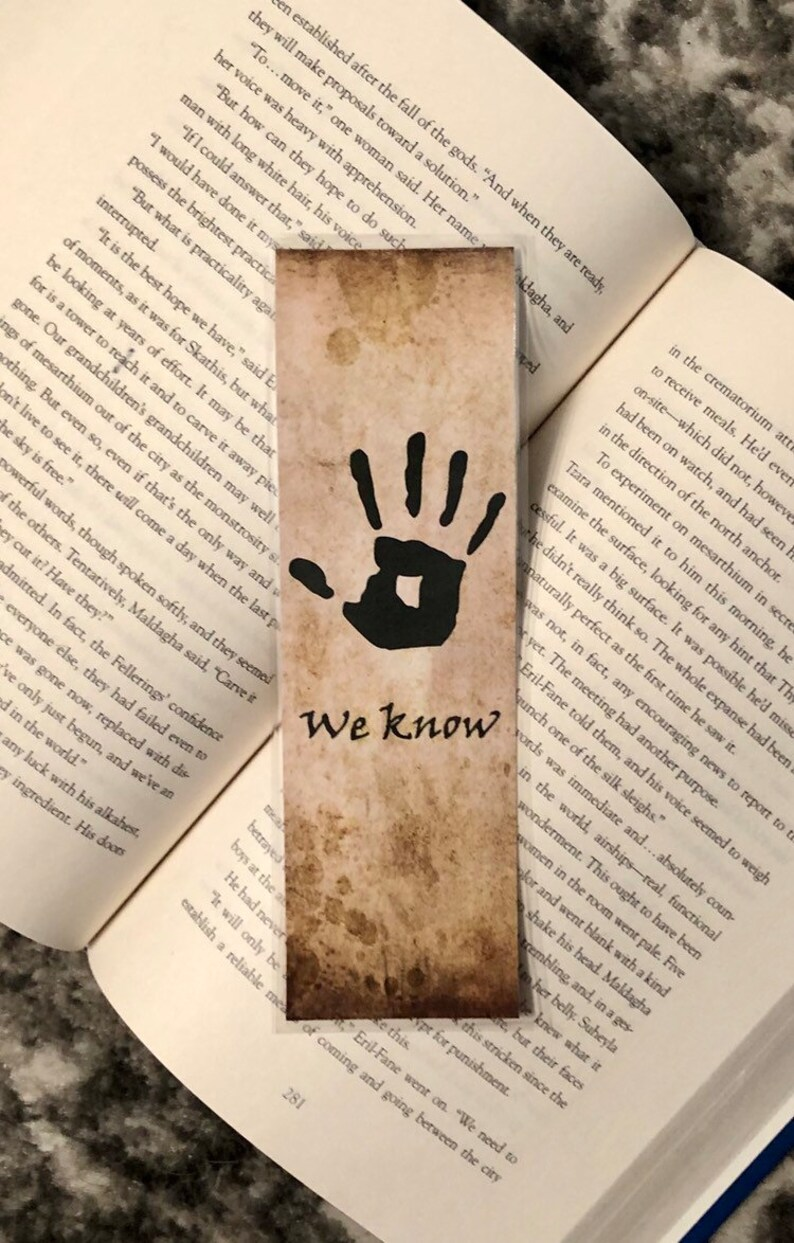 The Dark Brotherhood Bookmark Elder Scrolls Skyrim Dark Etsy