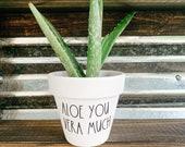Aloe You Vera Much, Plant Pot, Funny Pot, Punny Planter, Cute Gift Idea, Garden, Plant Pot, Valentine 39 s Gift, Anniversary Gift