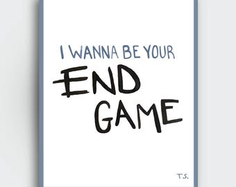 End game lyrics etsy end game lyrics taylor swift downloadable print watercolor stopboris Image collections