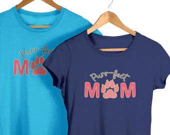 Purr-fect Cat Mom t-shirt