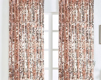 SALE 2 Pack 52x108 Blush Big Payette Sequin Window Treatment Home Decor Curtain Backdrop Panels With Rod Pockets