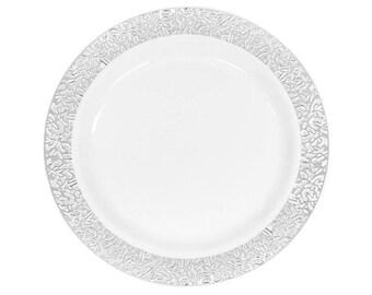 Fancy plastic plates | Etsy