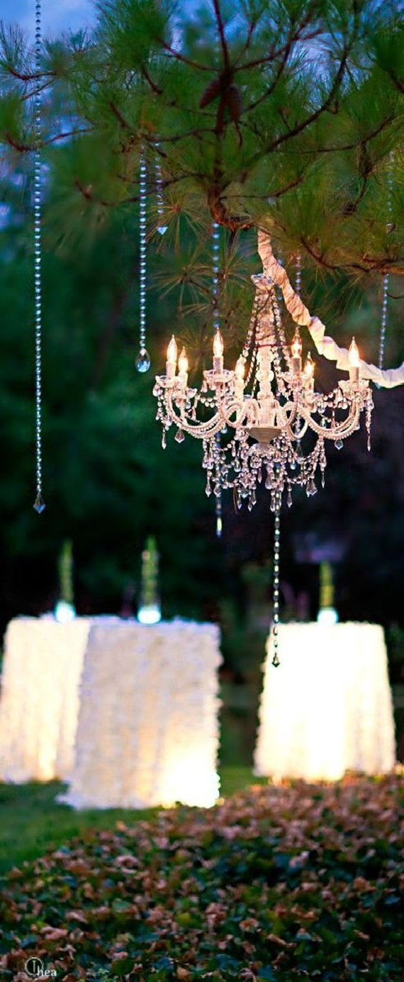 big sale 3f79b 53bf5 5 Arm Crystal Chandelier Wedding Ceremony Reception Decor Sparkly Lighting  Crystals Wholesale Hanging Outdoor Plug In Gazebo Backyard Sale