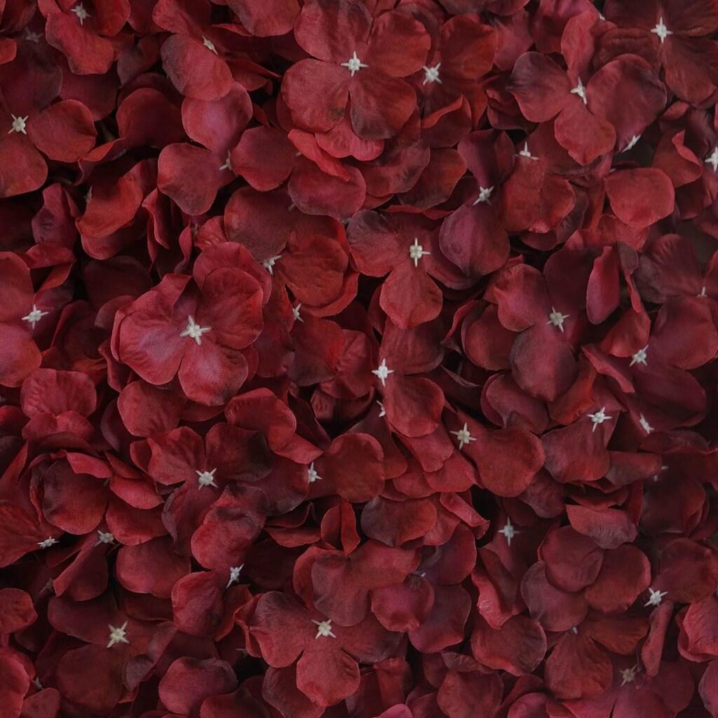 Sale 4 Wine Flower Wall Hydrangeas Artificial Flower Panels Etsy