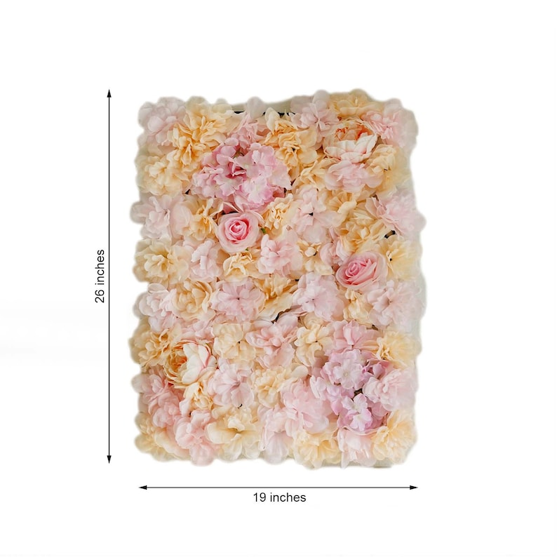 SALE 4 Blush Ivory Flower Peony Wall Pink Panels Hydrangeas Artificial Floral Wedding Decoration Fake Peonies Silk Square Backdrop Wholesale