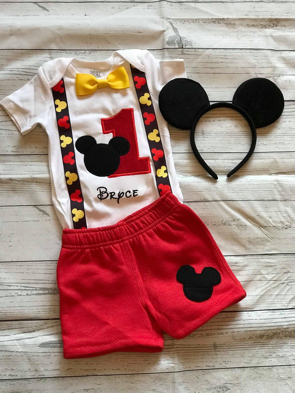 7042f8885 Mickey mouse birthday shirt Mickey mouse boys set Mickey | Etsy