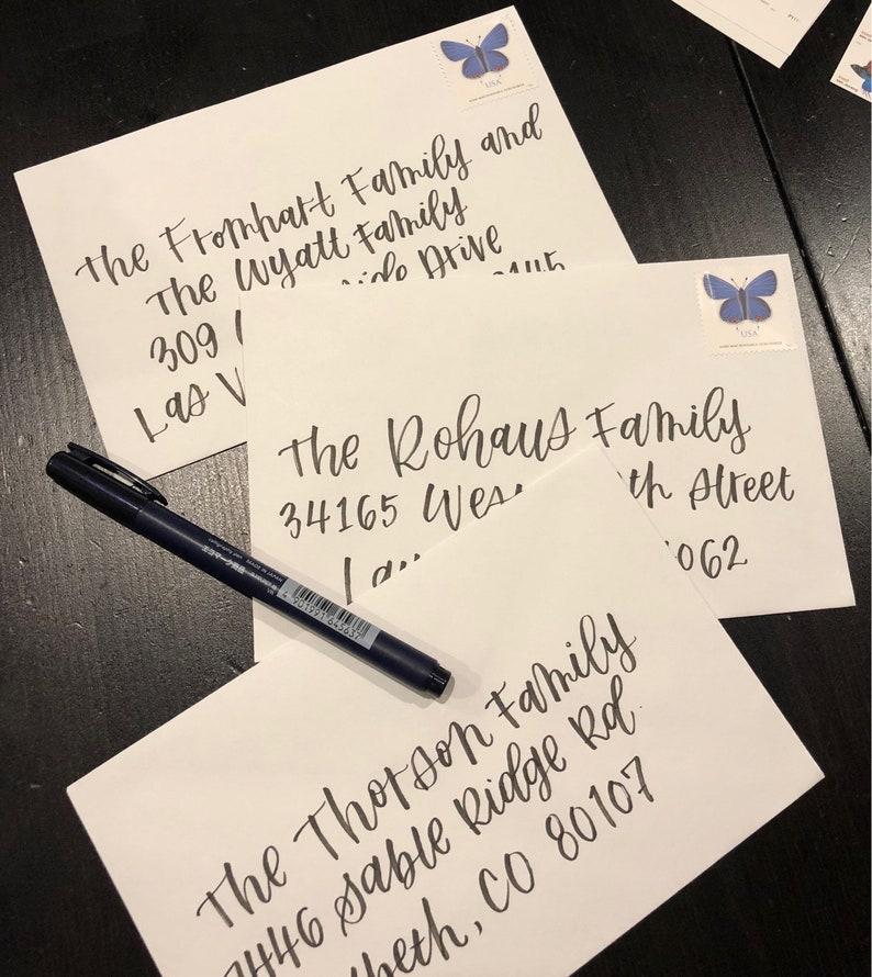 Hand Lettered Envelopes Wedding Invitations Baby Shower Etsy