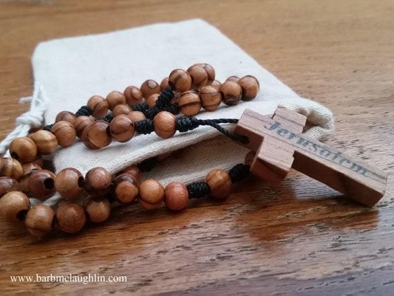Wooden Rosary Catholic Gift For Men Prayer Beads Olive Wood