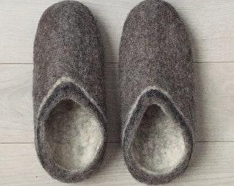 91cd9552655 Feutré pantoufles de laine   unisexe pantoufles hommes pantoufles femmes  pantoufles hiver intérieur pantoufles Noël cadeau pour Papa Noël cadeaux  pour maman ...