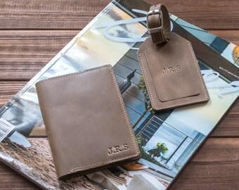 Personalized passport covers leather passport cover passport holder anniversary gift for men groomsmen gift.
