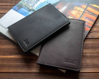 Personalized passport covers leather passport holder leather passport cover passport wallet groomsmen gift mens passport cover.