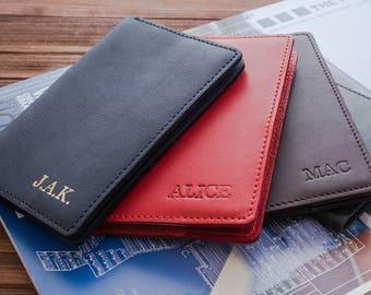 Passport cover personalized passport covers leather passport cover leather passport holder passport wallet passport case groomsmen gift.