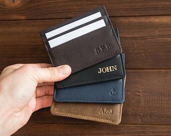 leather credit card holder etsy - Leather Credit Card Holder