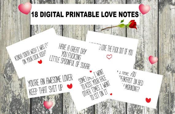 Sexy Love Notes Naughty Love Notes Love Notes For Him | Etsy
