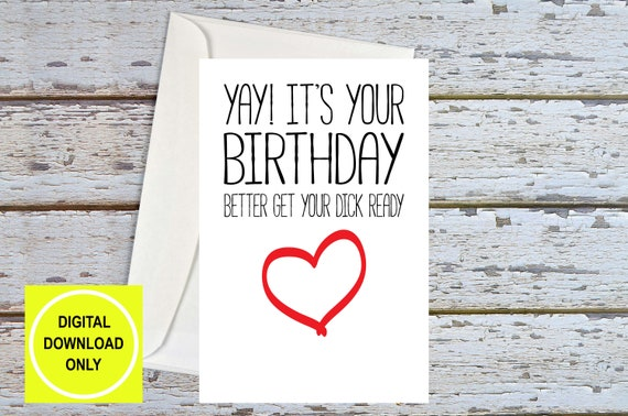 Naughty Birthday Card For Boyfriend Sex Card Dirty Birthday Etsy