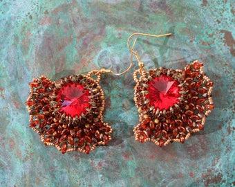 Oriental Fire Earrings
