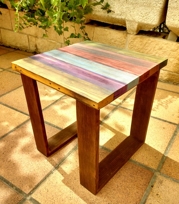Salontafel Smoked Oak.Items Similar To Handmade Pallet Recycled Wooden Color Side Table