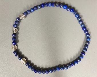 Tidal neck Lapis Lazuli/spirals