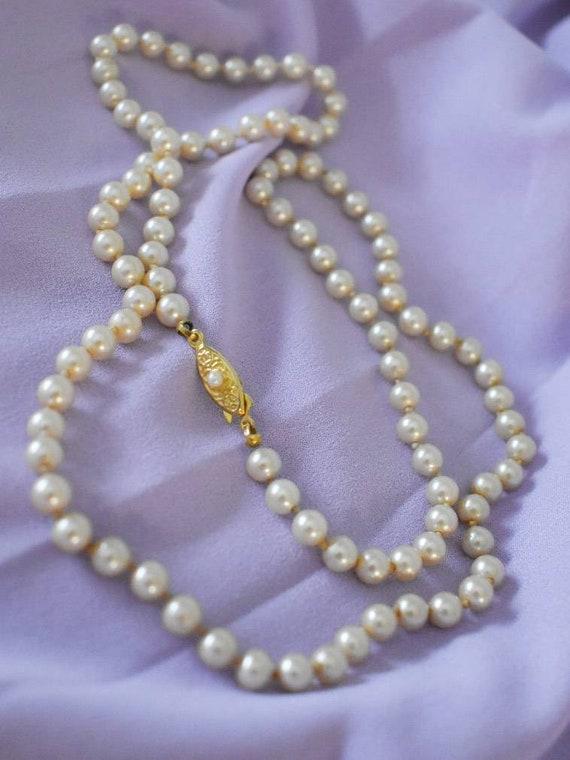 Champagne Pearls Bead Necklace  Triple Strand Multi Strand  Choker Graduated Links Designer Gold Tone Vintage Costume Jewelry Runway Bridal