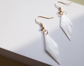 Diamond Shell Drop Earrings Bridesmaid Earrings