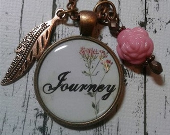 Pink Flower Journey Necklace