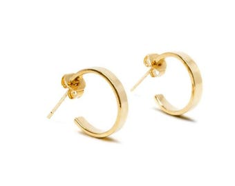 Fine 18 k gold hoop earrings