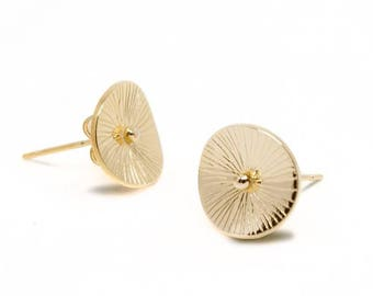Golden fine 18 k gold earrings