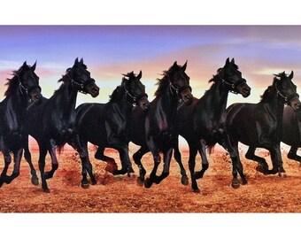 Vastu 7 Horses Poster Print Painting Without Frame 30 X 60 Etsy