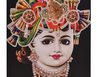 Bal Krishna Sparkle Print Photo Without Frame (20 X 28 Inches)