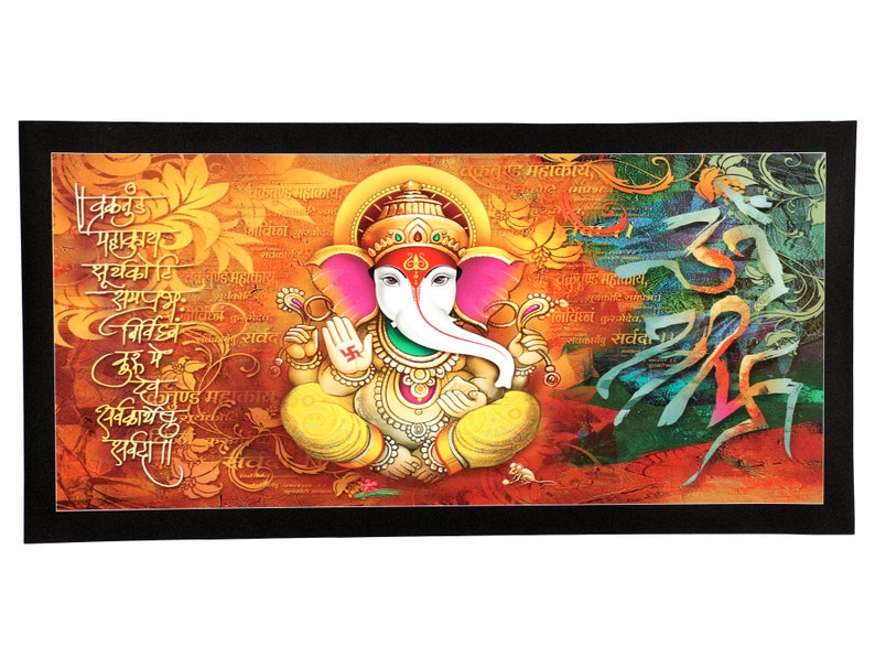 top seller shree ganesh sparkle print wall sticker poster | etsy