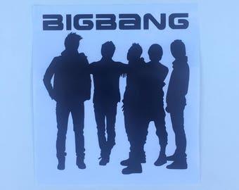 Big Bang Silhouette Vinyl Decal